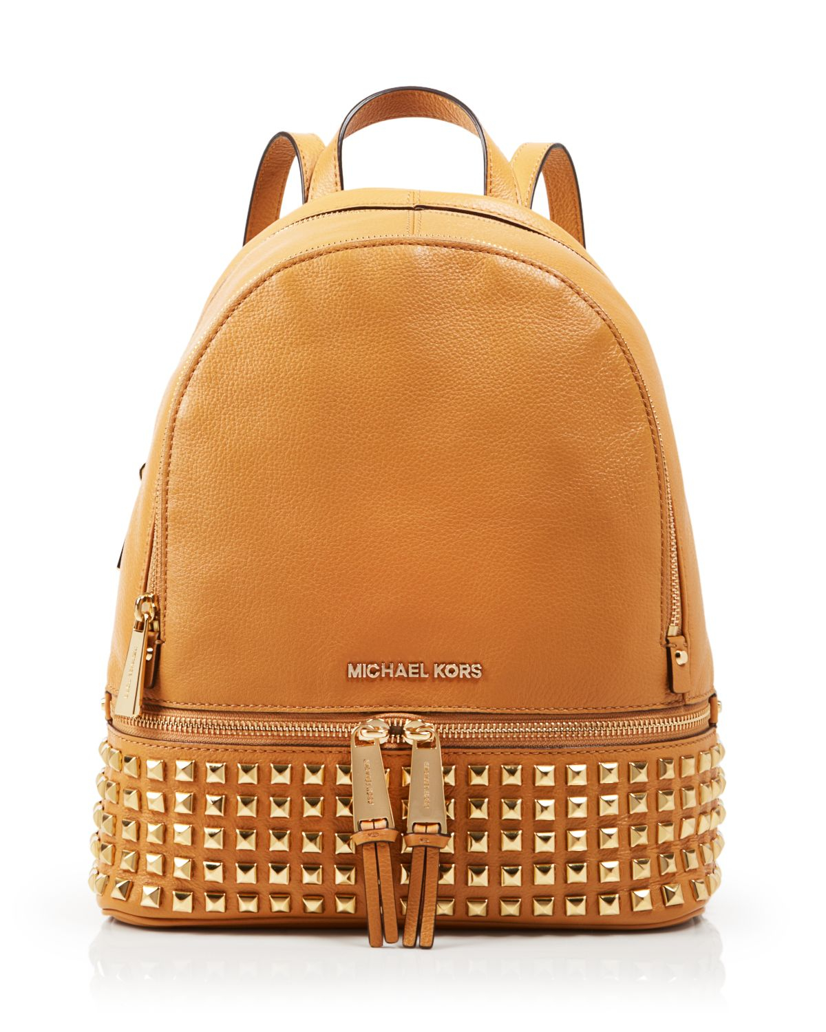 bf1d893fb22b ... small rhea zip leather backpack in pink d177a d9096; usa lyst michael  michael kors backpack bloomingdales exclusive ad62a b241b