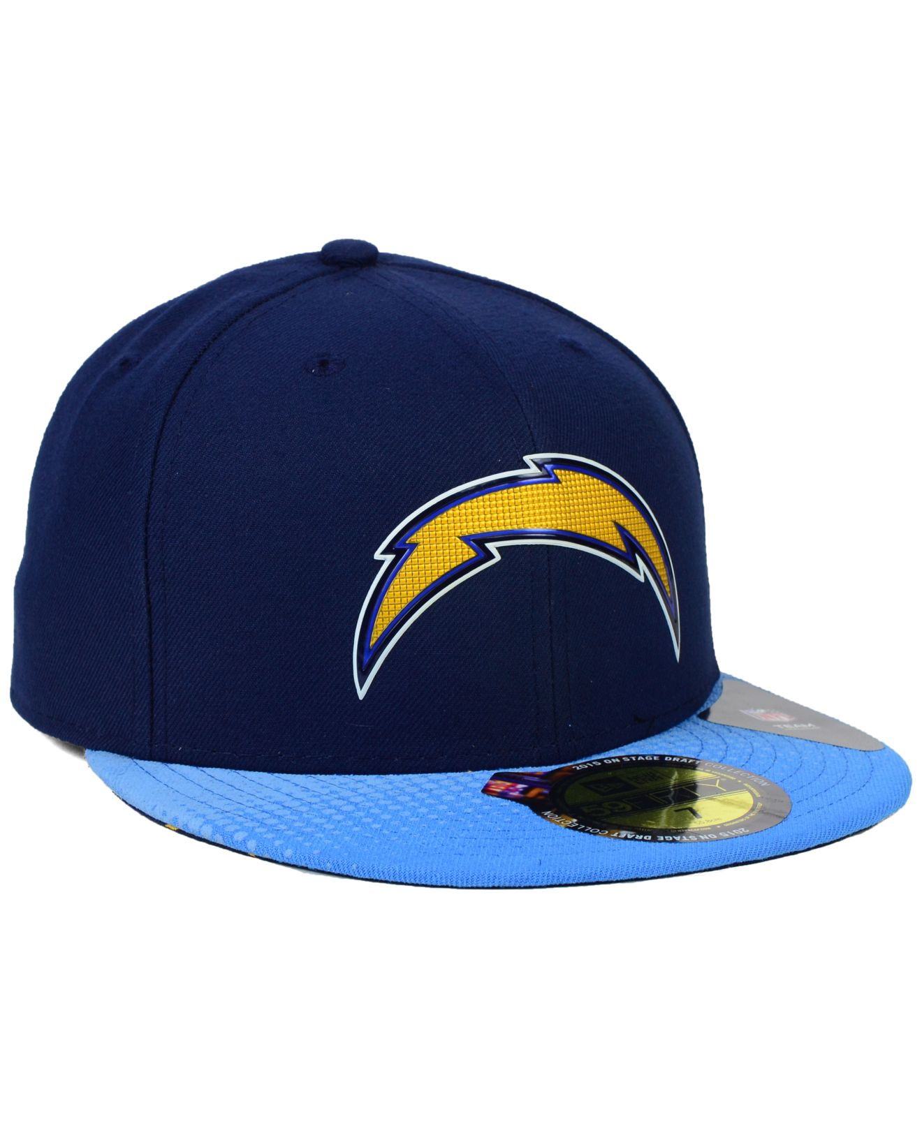 b755dbe6168 Lyst - Ktz San Diego Chargers 2015 Nfl Draft 59fifty Cap in Blue for Men