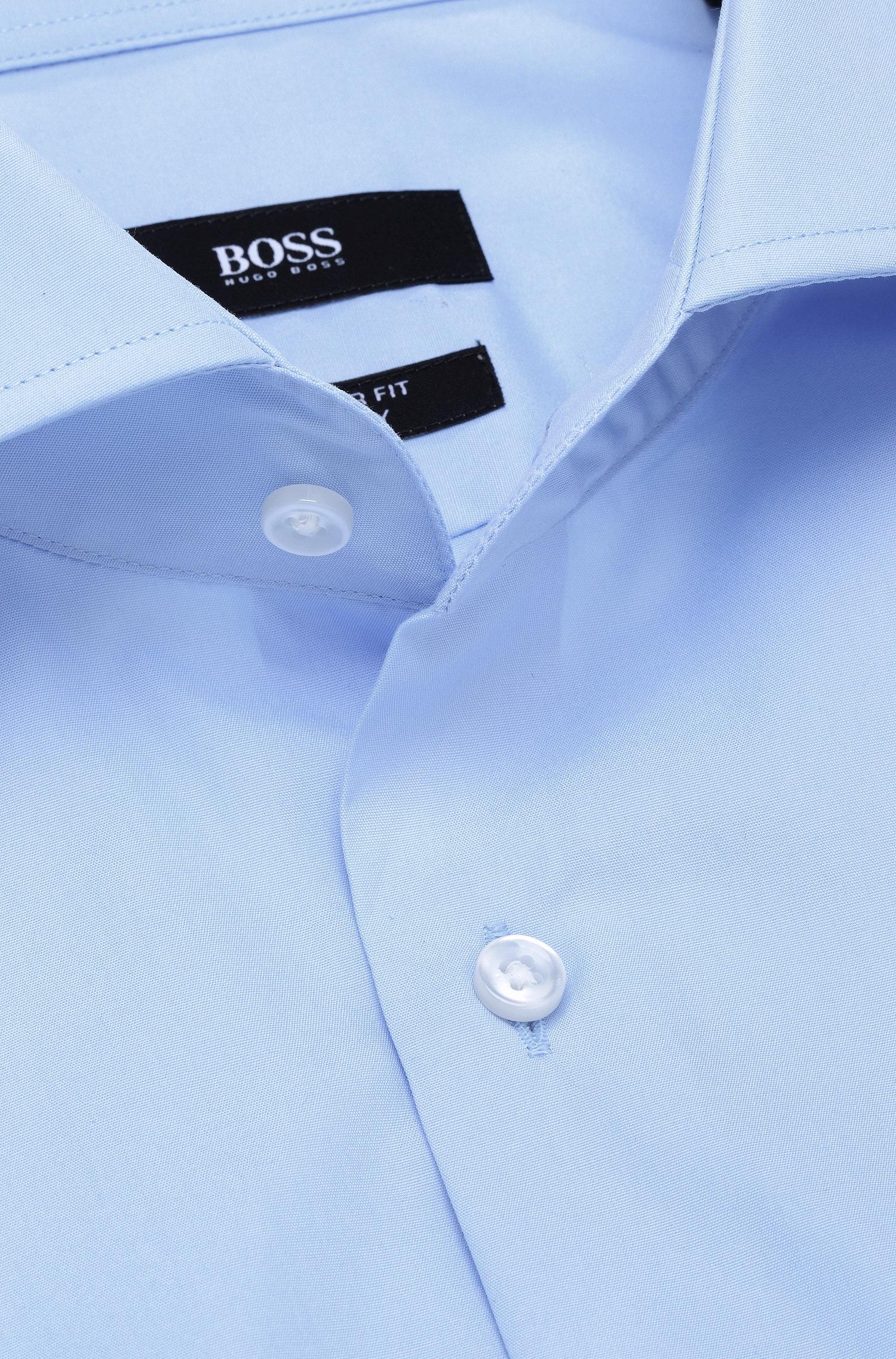 deb79c5a1 BOSS Plain Regular-fit Shirt In Cotton: 'gerald' in Blue for Men - Lyst