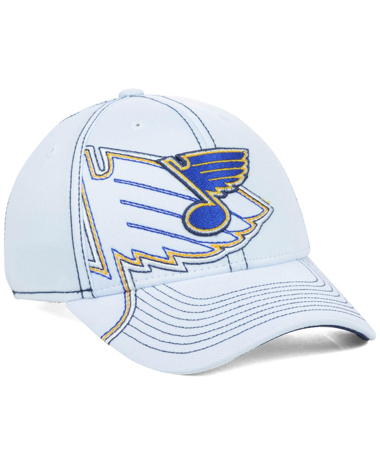 low priced 87f2a 4852c ... store lyst reebok st louis blues nhl 2nd season draft cap in white for  men 3e325 ...