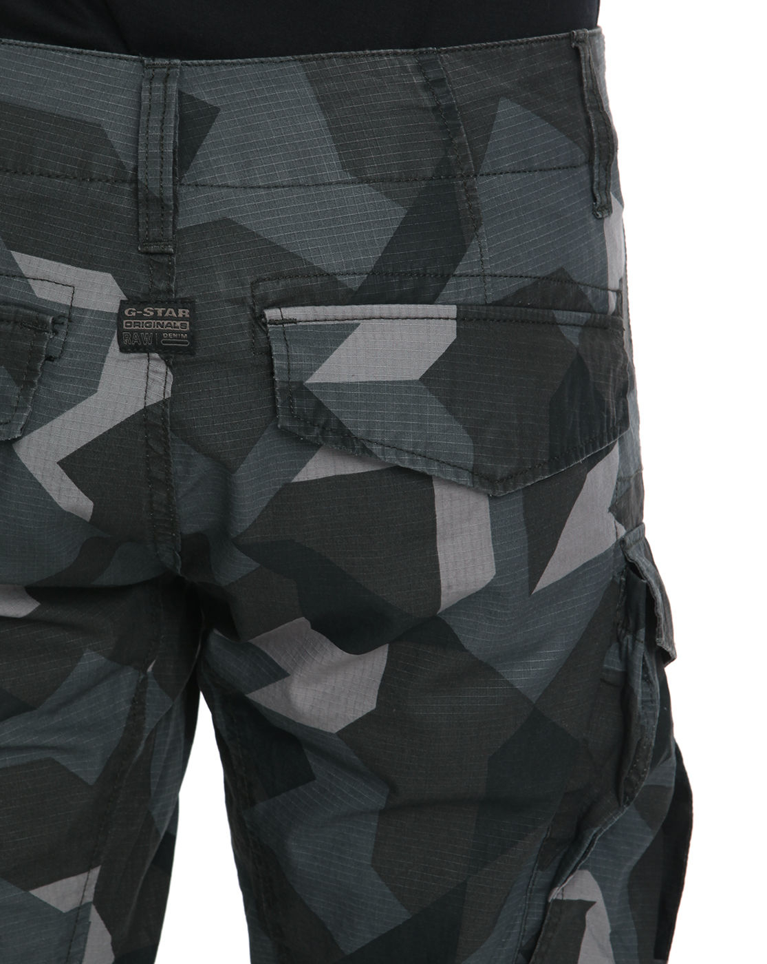 g star raw rovic zip 3d tapered camo cargo trousers in. Black Bedroom Furniture Sets. Home Design Ideas