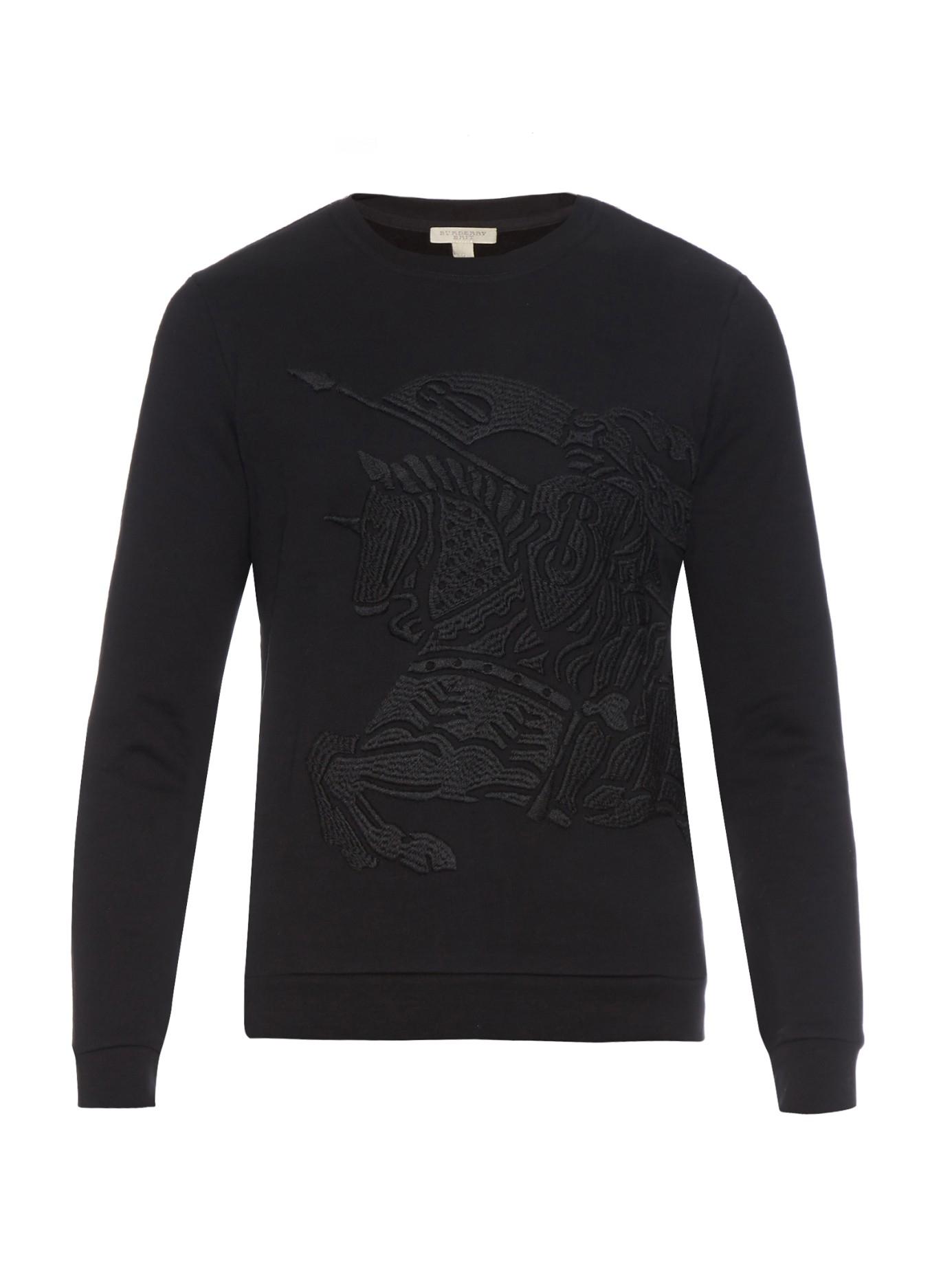 Lyst Burberry Brit Embroidered Cotton Jersey Sweatshirt