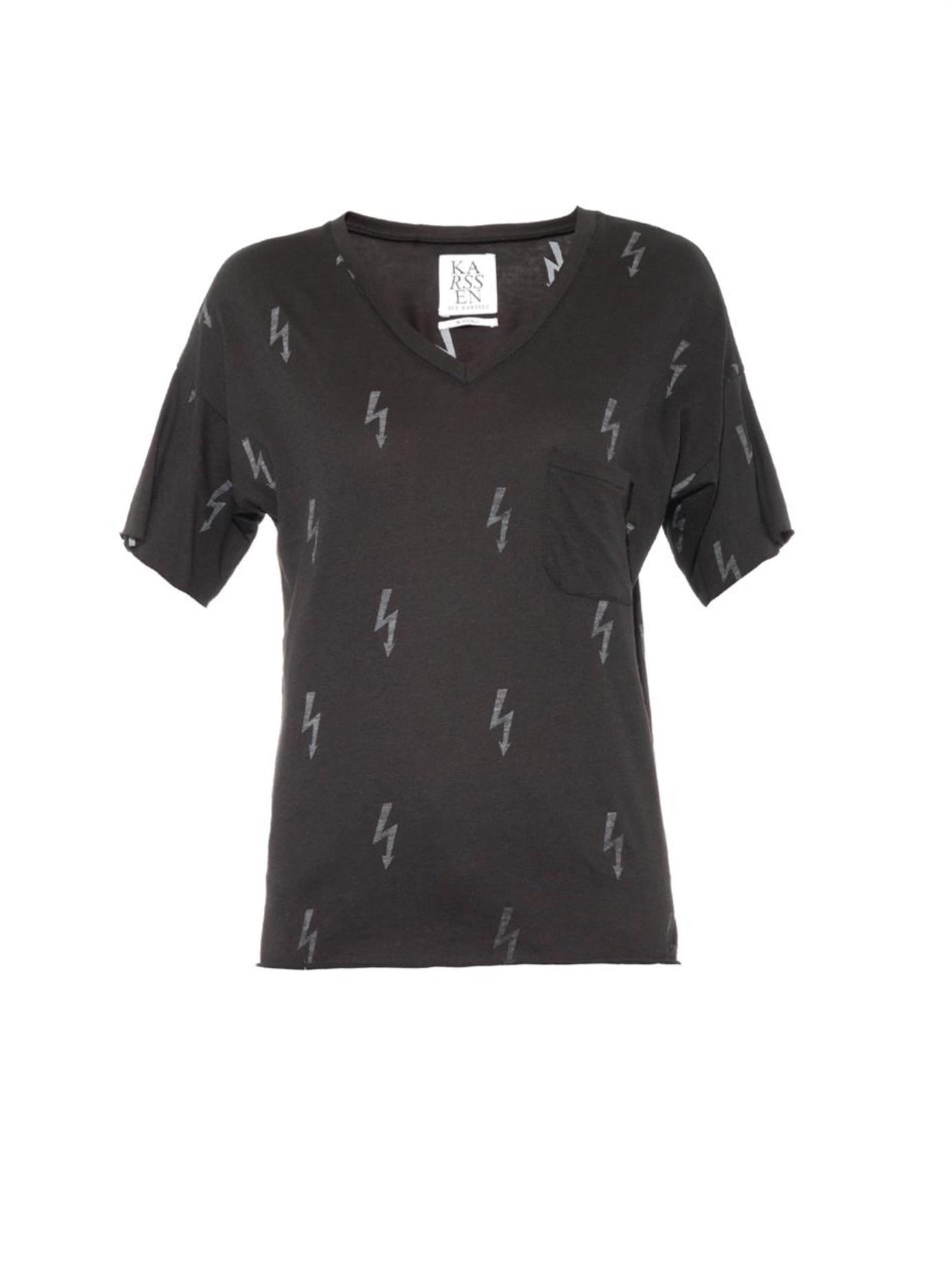Lightning Lyst Print Bolt In Black T Zoe Shirt Karssen qVUzpSM