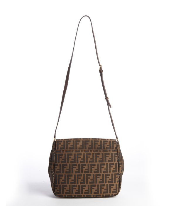 e737064a73 purchase lyst fendi tobacco and brown zucca canvas crossbody bag in brown  abeaa a126e