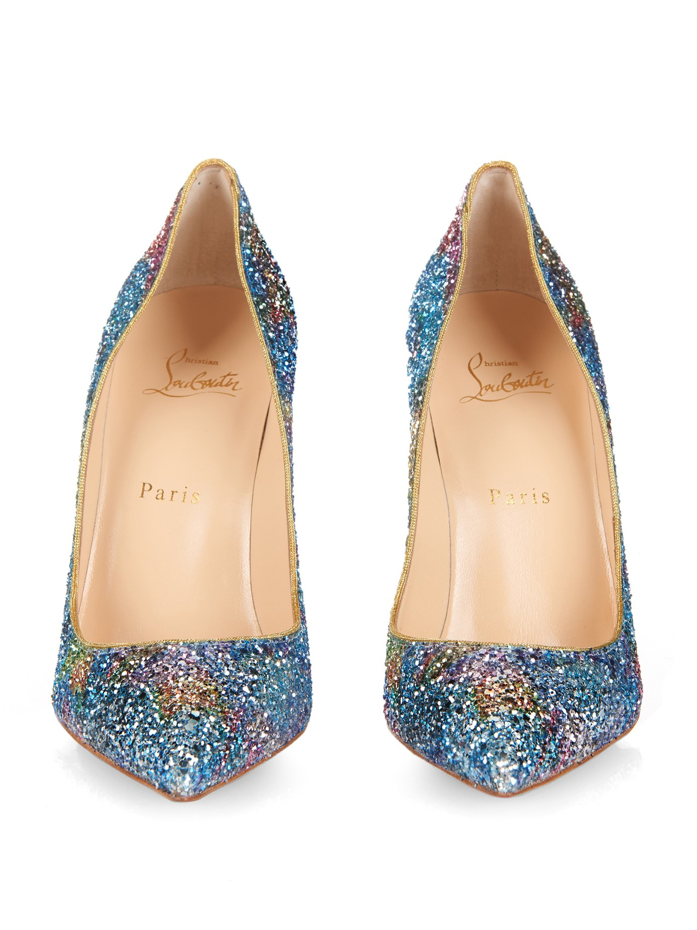 replica shoes christian louboutin - Christian louboutin Pigalle Follies 100mm Pumps in Multicolor ...