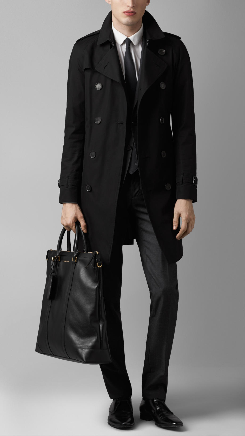 3ac965e3bd Burberry Large Leather Tote Bag in Black for Men - Lyst