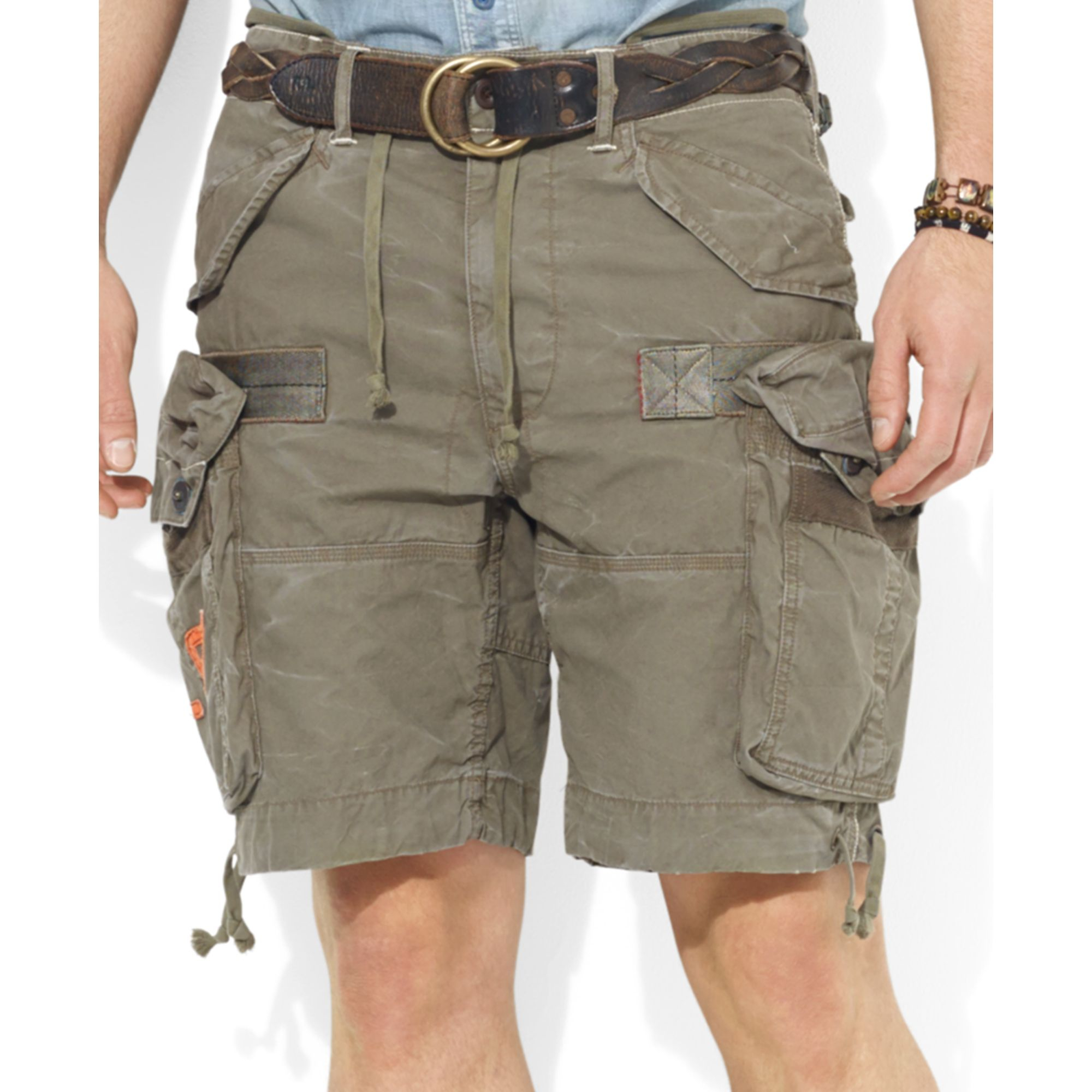 Ralph lauren Polo Big and Tall Cargo Shorts in Natural for Men | Lyst