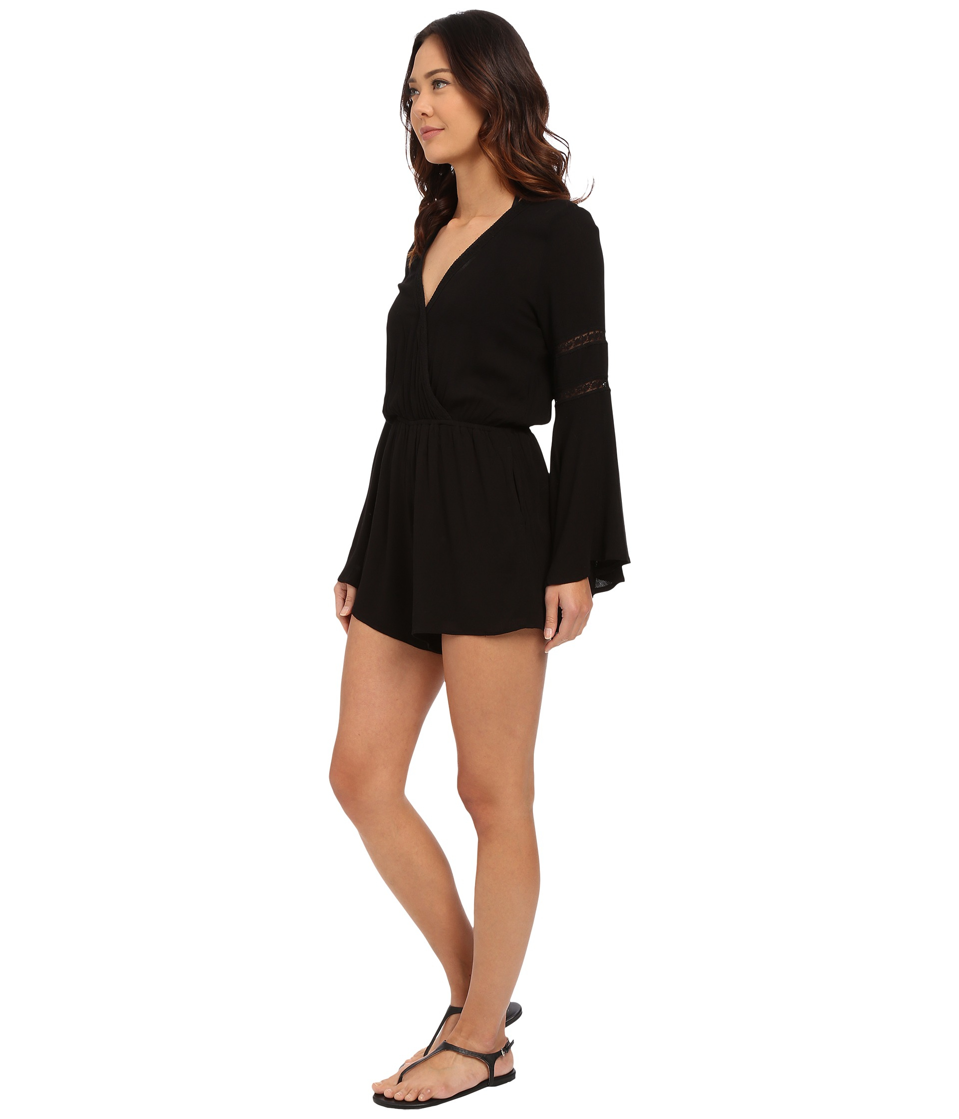 8b84c36f44f Lyst - L Space Lovestruck Romper Cover-up in Black