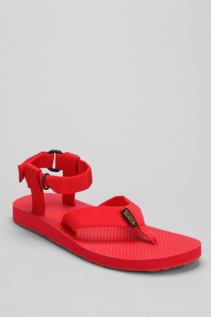 cc2b09071 Lyst - Teva Monochromatic Original Thong Sandal in Red for Men