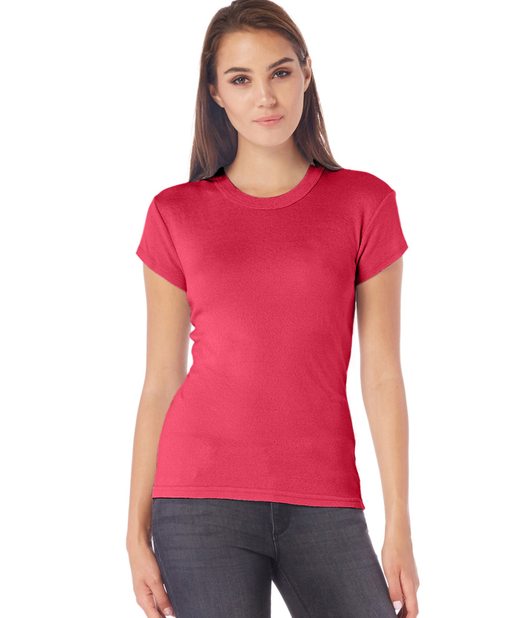 Michael stars shine capsleeve crew neck tee in red lyst for Michael stars tee shirts