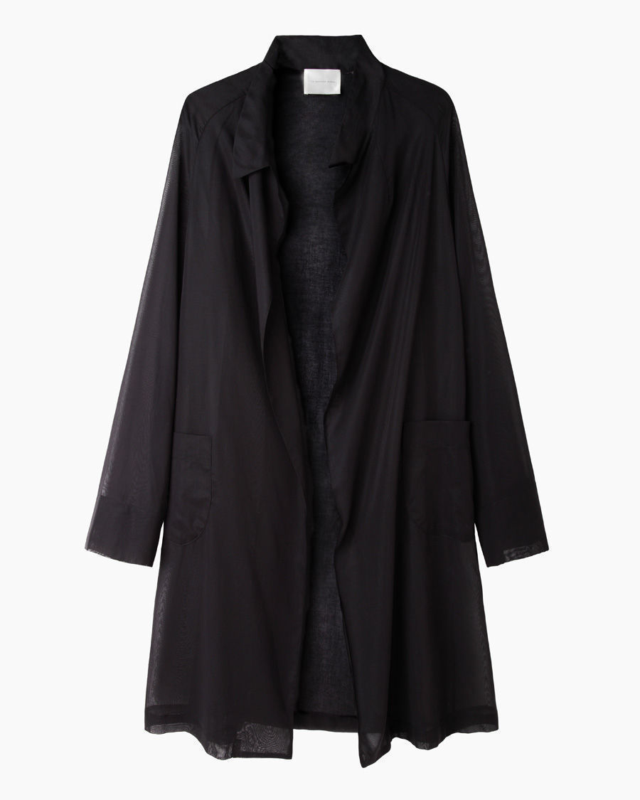 moderne farrow organza robe in black lyst. Black Bedroom Furniture Sets. Home Design Ideas