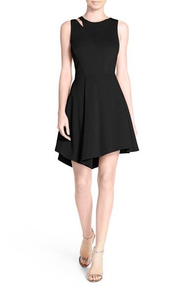 751b7c7b Adelyn Rae Asymmetric Cut-Out Mini Dress in Black - Lyst