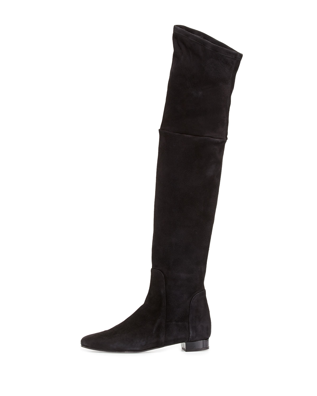 delman evoke suede the knee boots in black lyst