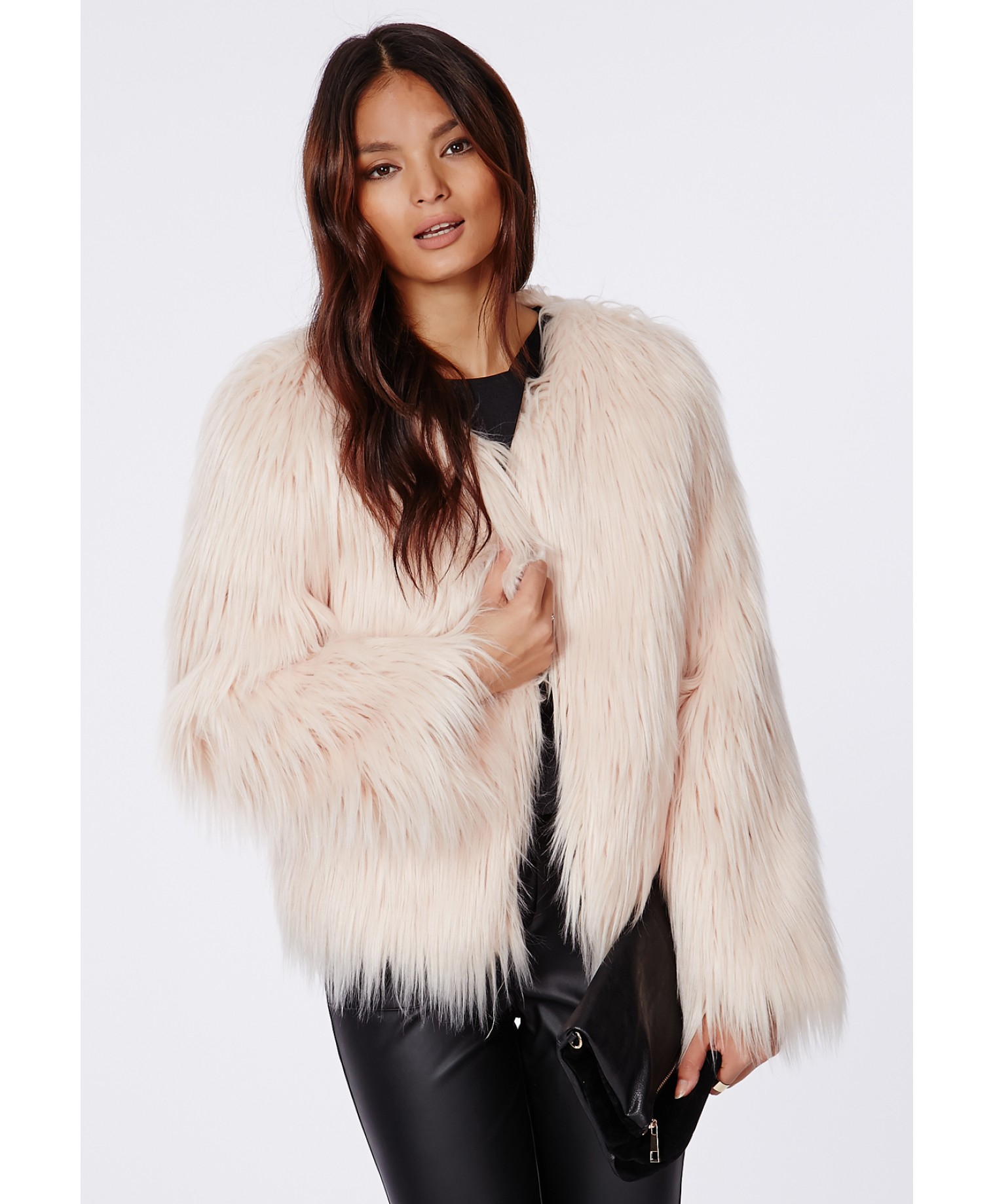 Nude In Fur Coat 85