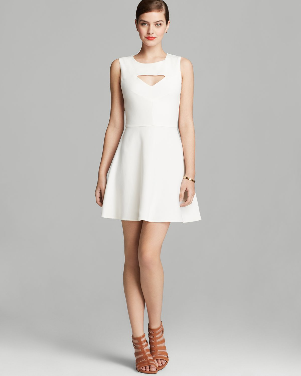 French Connection Dress Feather Ruth Classics Cutout In