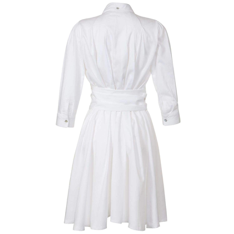 outsider shirt dress with obi belt white in white lyst