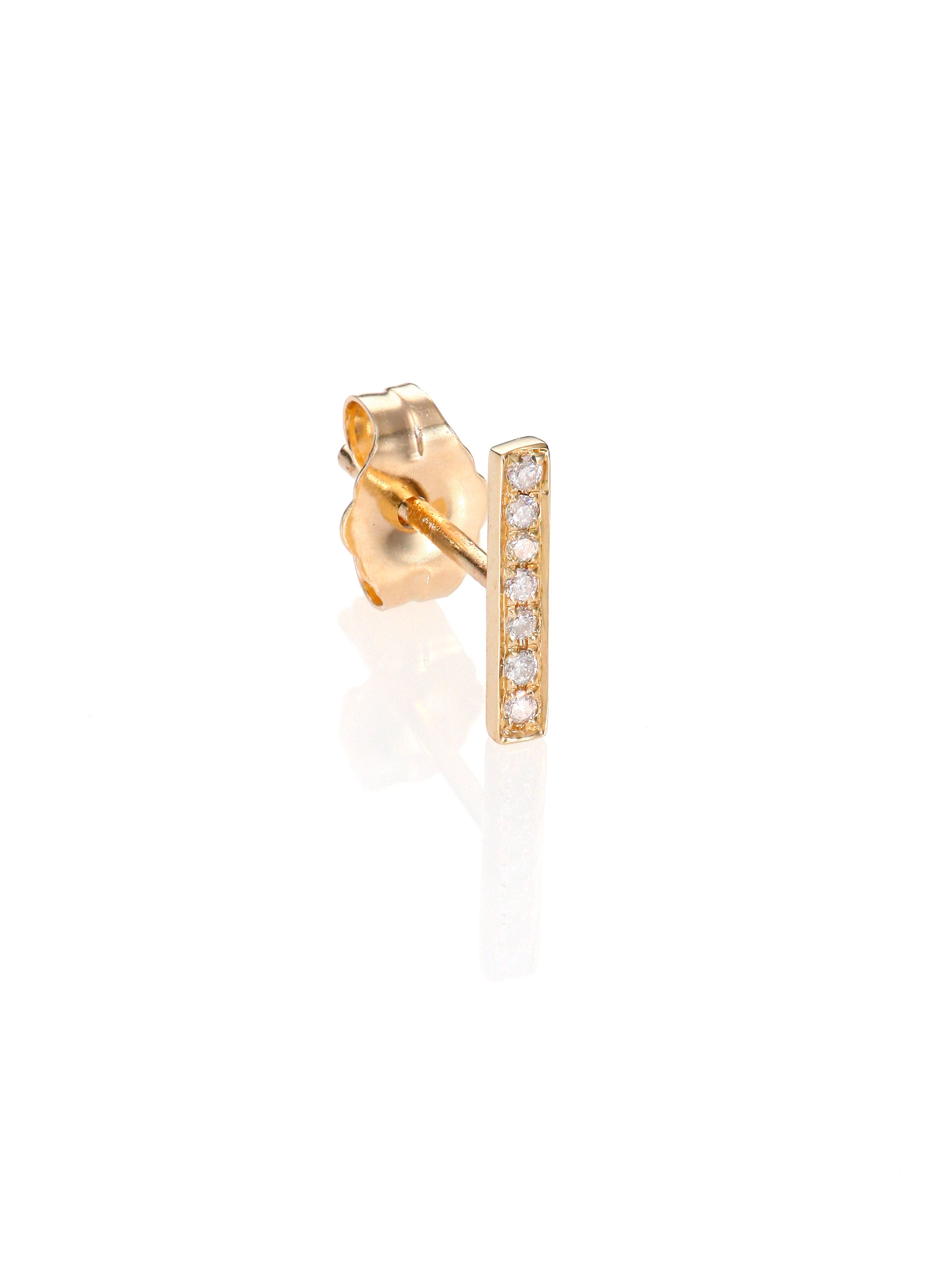 Sydney Evan 14k Gold Diamond Cross Single Stud Earring 7QhJ4