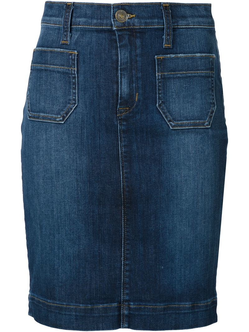 Hudson Jeans Denim Mini Skirt In Blue Lyst
