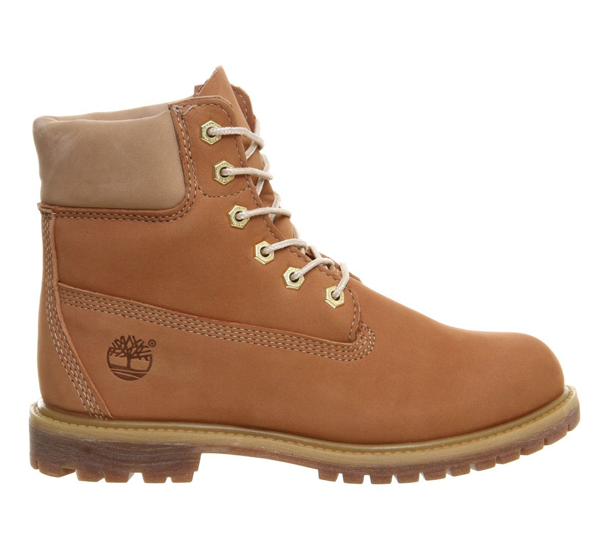 timberland premium 6 boots in brown lyst