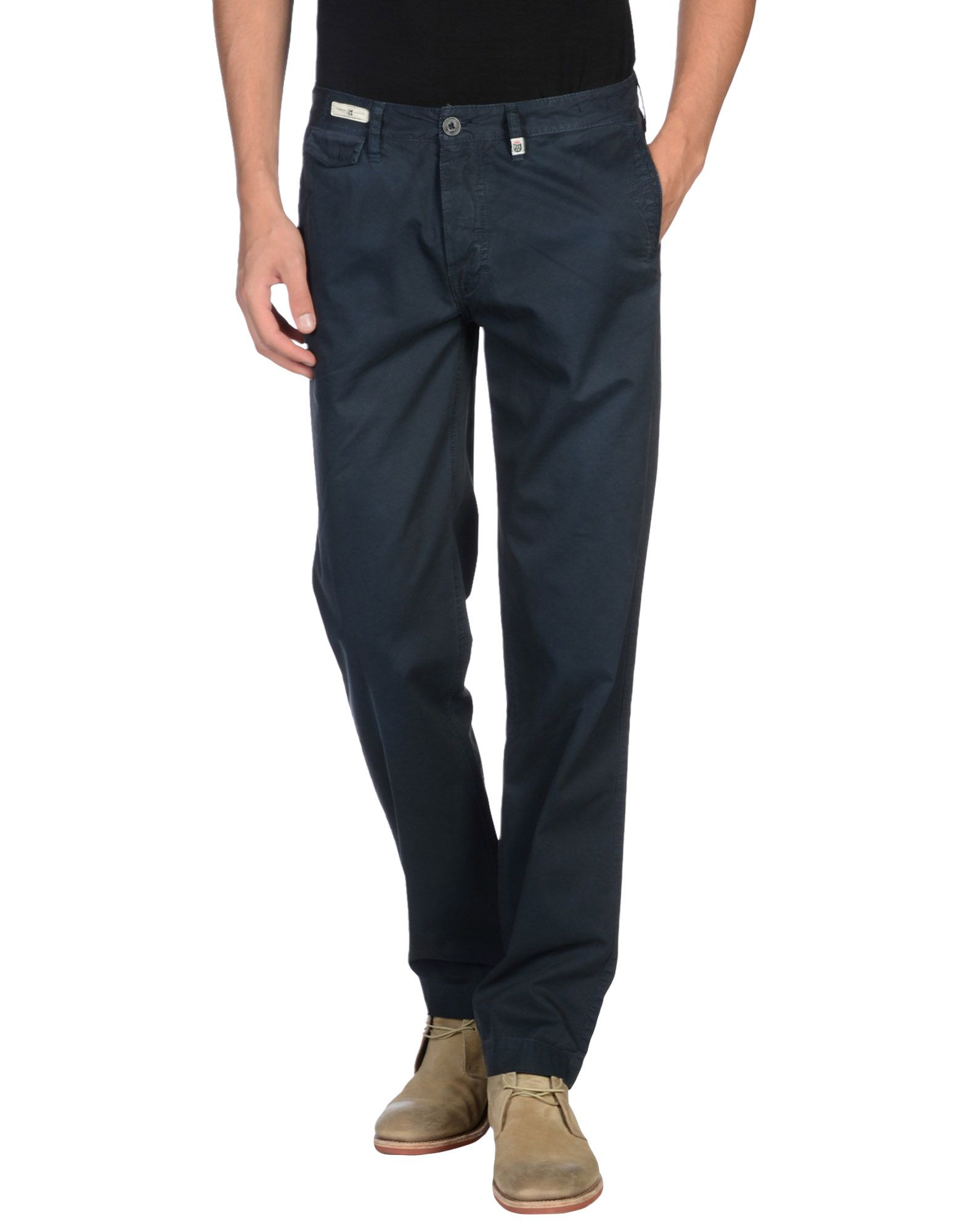 lyst pepe jeans casual trouser in blue for men. Black Bedroom Furniture Sets. Home Design Ideas