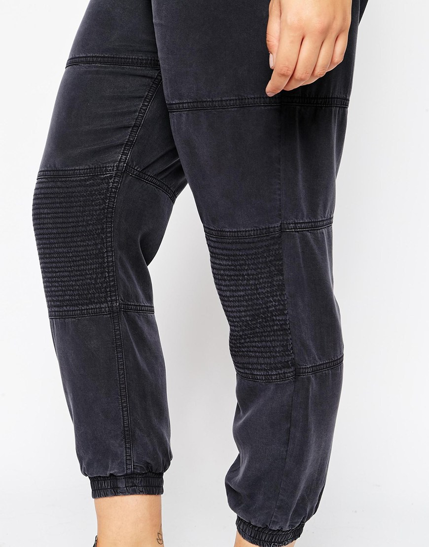 11efcc63a05 Lyst - Asos Curve Washed Peg With Biker Detail in Gray