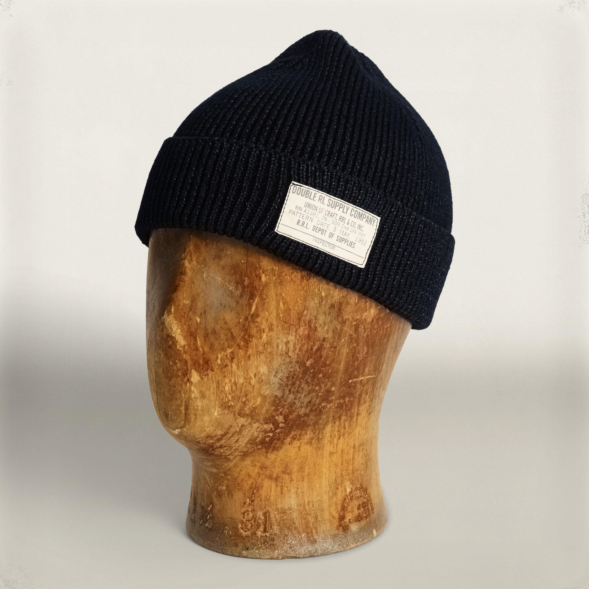 c33dd43330d Rrl indigo combed cotton watch cap in blue for men lyst jpg 2000x2000 Watch  rrl cap