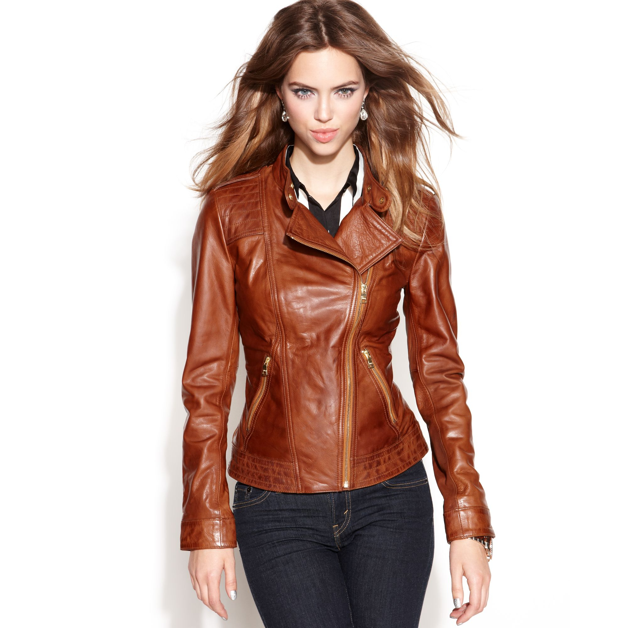 Guess leather jackets