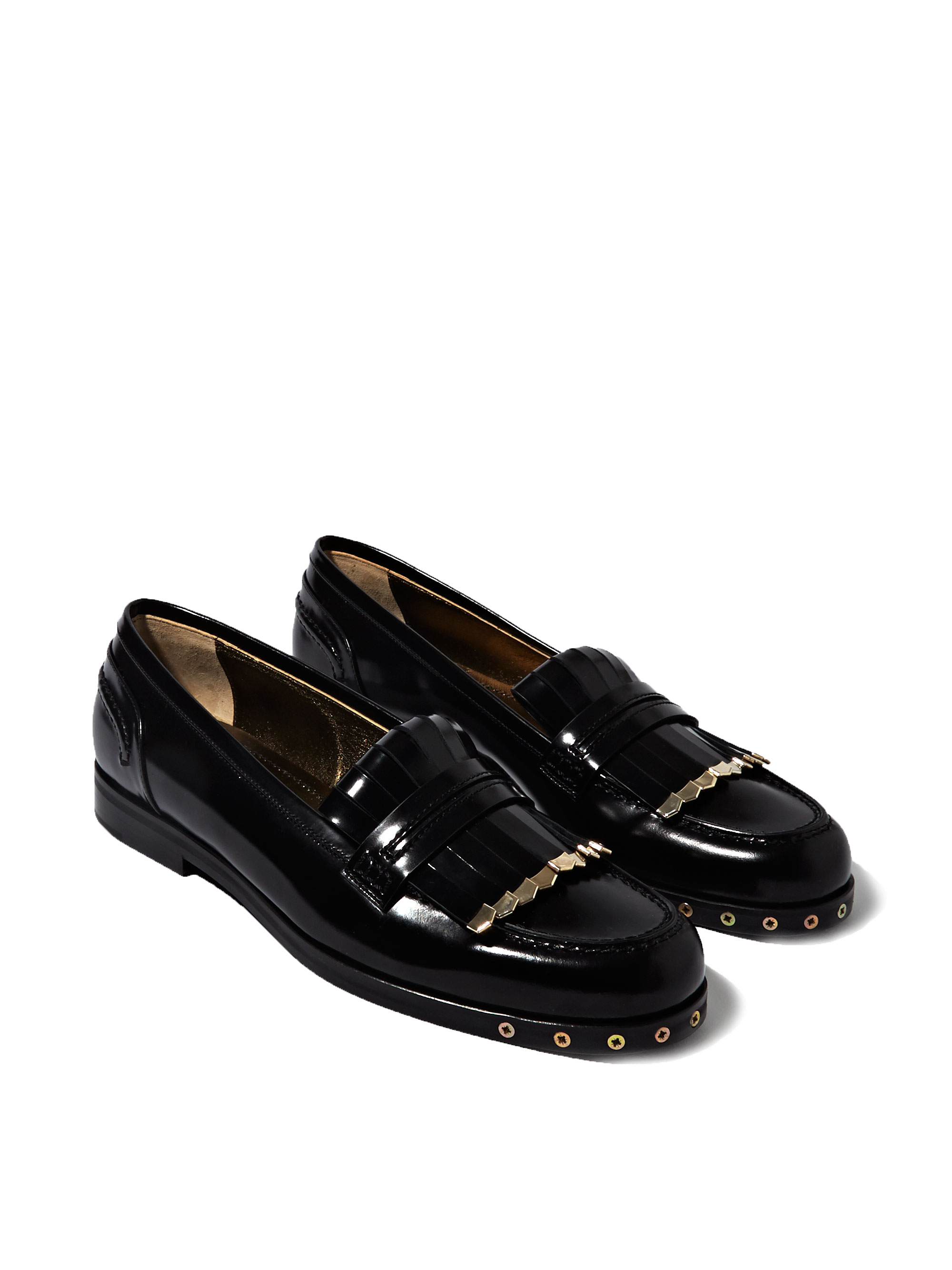 Lyst - Lanvin Womens Loafer Shoes in Black