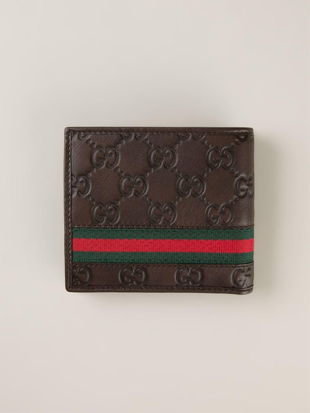 c7efa791fde Lyst - Gucci Logo Embossed Wallet in Brown for Men