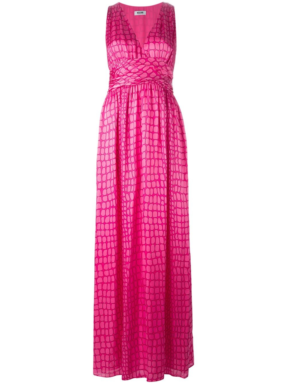 Boutique Moschino Pebble Print Long Dress In Pink Pink