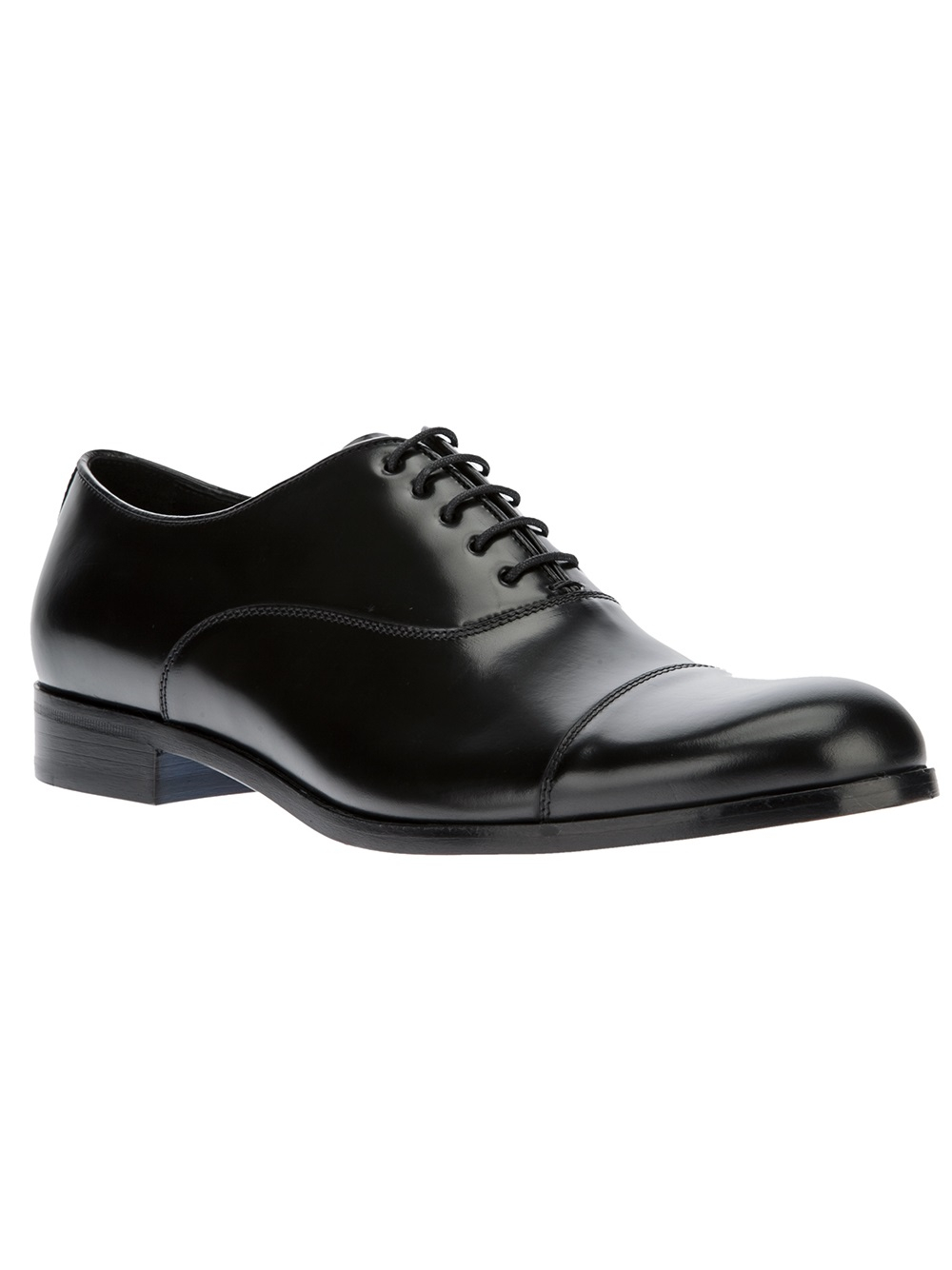 emporio armani classic oxford shoe in black for lyst