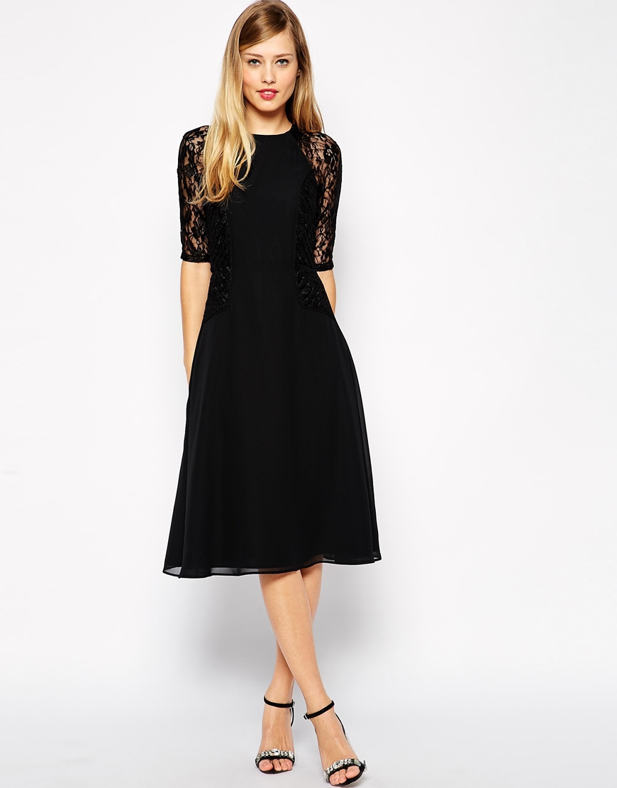 Asos midi cocktail dresses