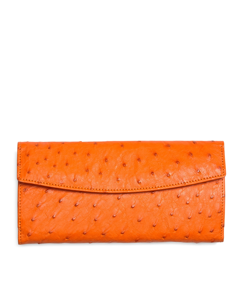 Lyst Brooks Brothers Ostrich Wallet In Orange