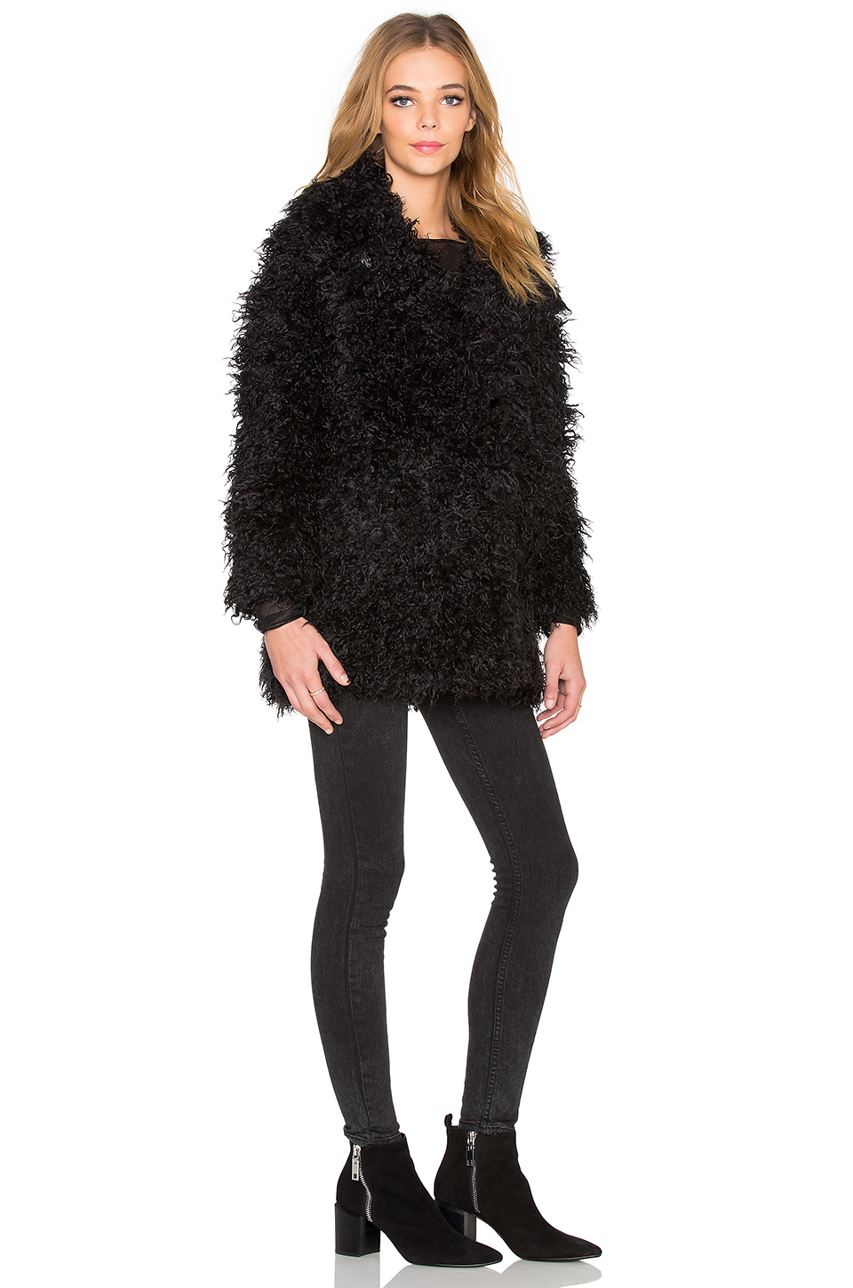 Cheap monday Faux Fur in Black | Lyst