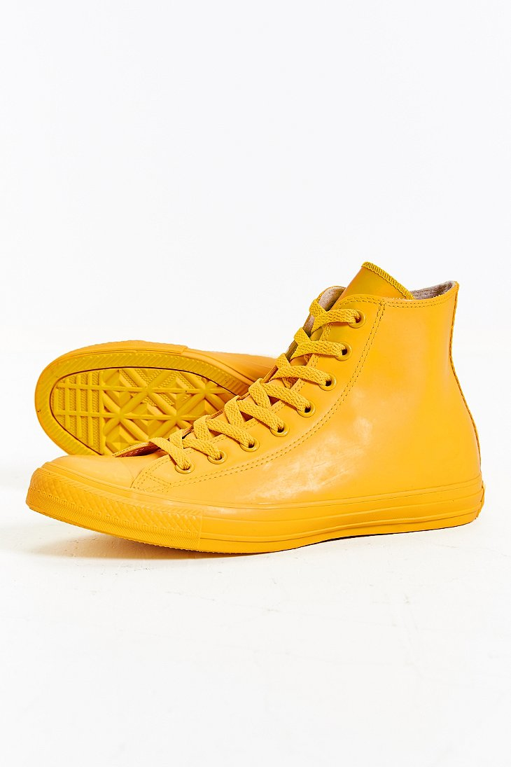 f1b87eb4a542f Converse Chuck Taylor All Star Rubber High-top Sneakerboot in Yellow ...