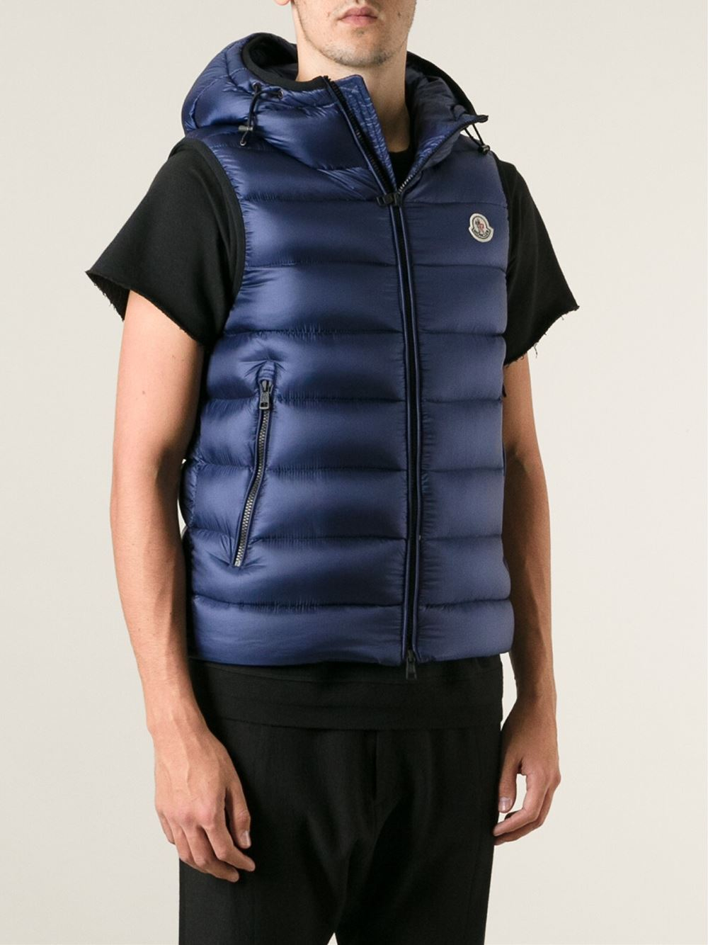 Moncler Ray Padded Gilet In Blue For Men Lyst