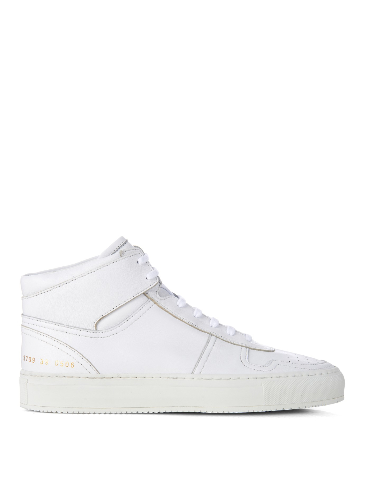 48e5f3fe30de Lyst - Common Projects Basketball Hi-top Sneakers in White