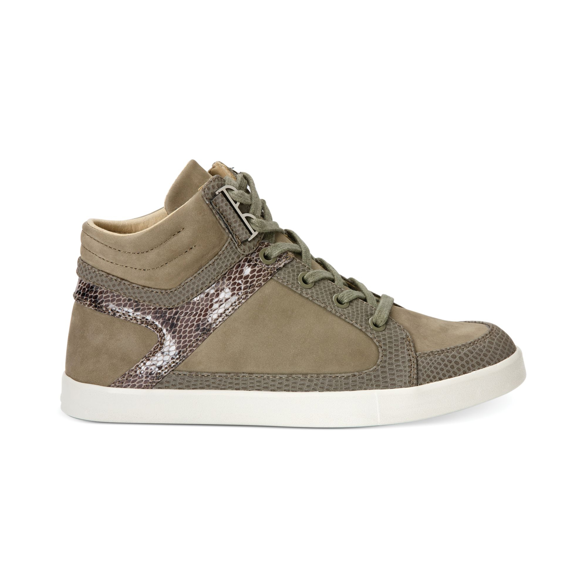 calvin klein women 39 s lyda high top sneakers in green olive lyst. Black Bedroom Furniture Sets. Home Design Ideas