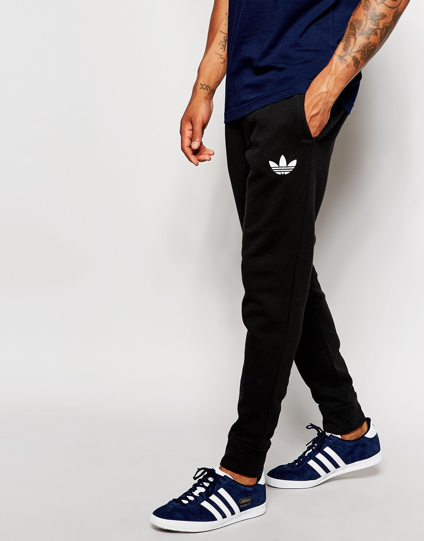 Adidas Originals Skinny Joggers Ab7512 In Black For Men Lyst