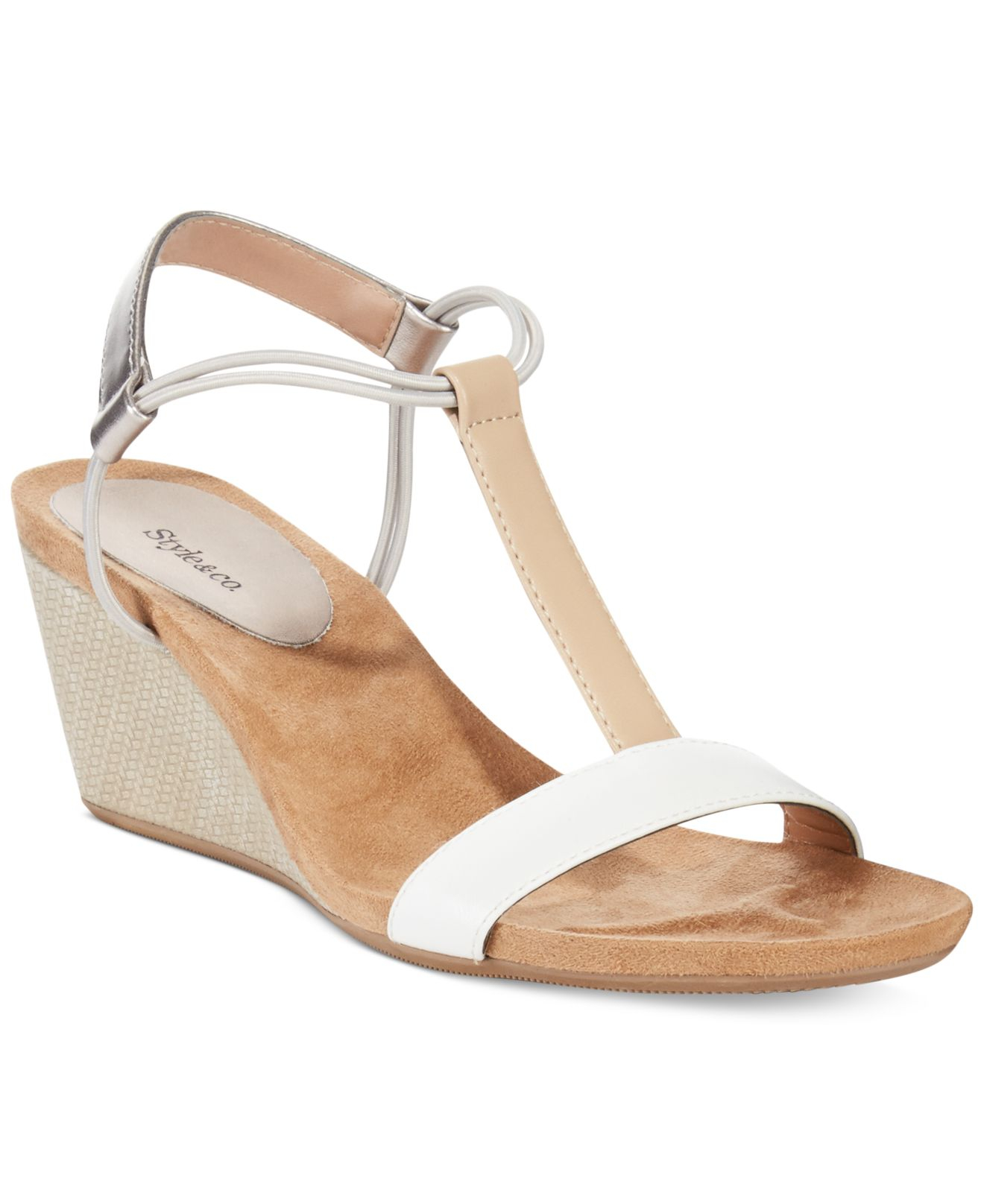 Jessica Simpson White Wedge Shoes