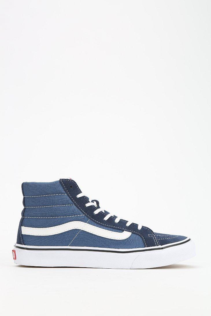 7059d84d0e Lyst - Vans Sk8-hi Slim Sneaker in Blue