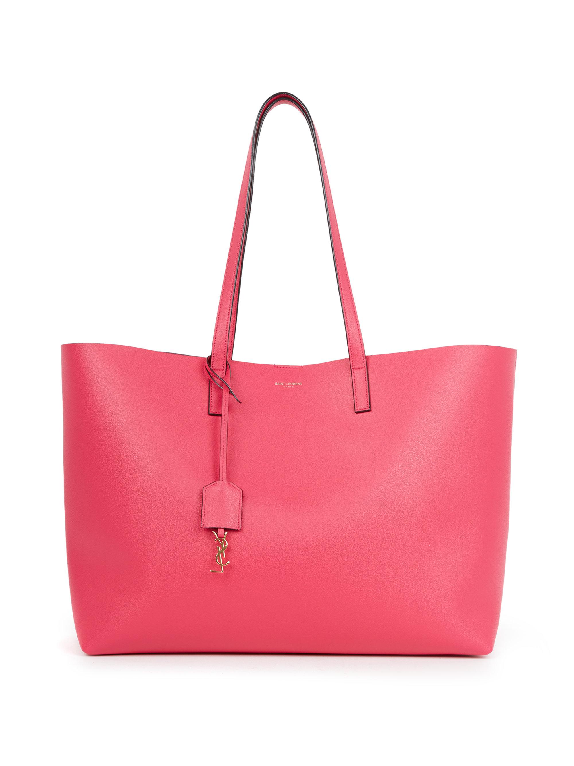 pink shopper leather tote bag Saint Laurent 97P071S
