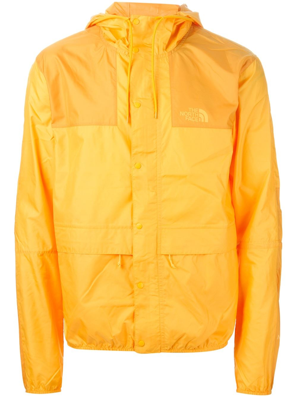 Lyst - The north face Hooded Windbreaker Jacket in Yellow for Men