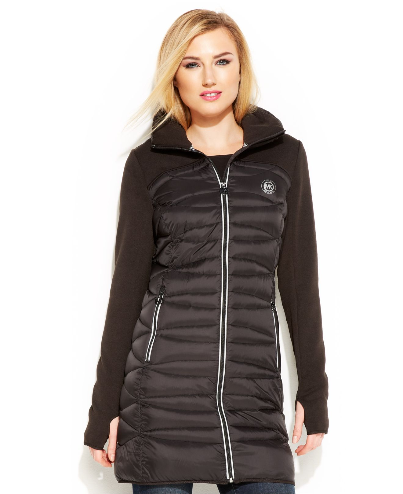 Lyst Michael Kors Michael Hooded Active Quilted Down