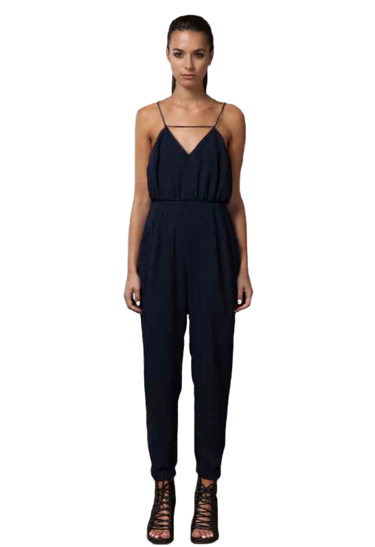 7f2ea090db0d Lyst - Finders Keepers Someday Jumpsuit As Seen On Jessica Alba in Blue