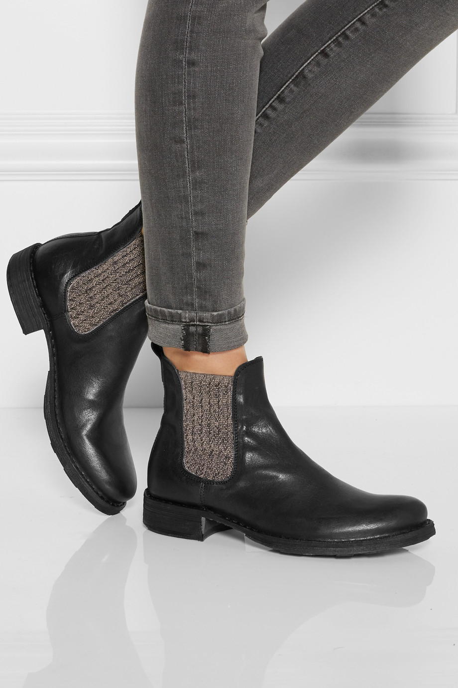 Lyst Fiorentini Baker Etex Leather Chelsea Boots In Black