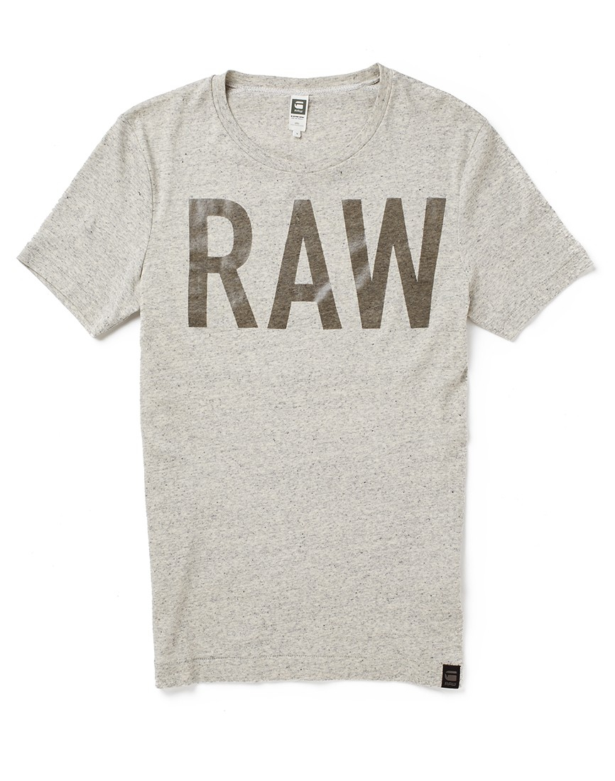 star raw g star lambrick t shirt snow heather in gray for men lyst. Black Bedroom Furniture Sets. Home Design Ideas