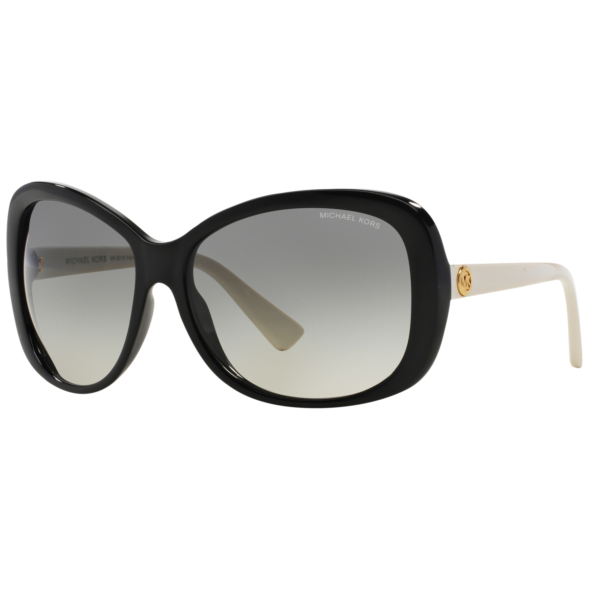 27a8e9f3f5bf9 Michael Kors Mk6018 Butterfly Framed Sunglasses in Black - Lyst