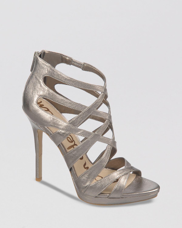 d9cbbeb72 Lyst - Sam Edelman Ella High Heel Peep Toe Platform Evening Sandals ...