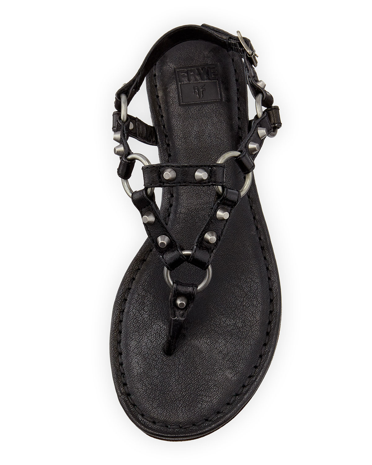 Lyst Frye Carson Rivet Leather Thong Sandal In Black For Men